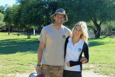 Rowan Carstens & Dunja Berger Outfit Namibia