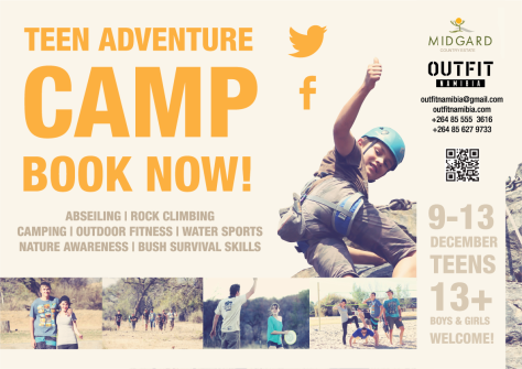 Teen Adventure Camp with Outfit Namibia